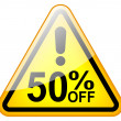 Big sale sign — Stock Photo