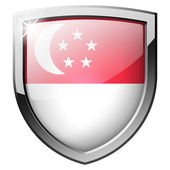 Singapore shield — Stock Photo