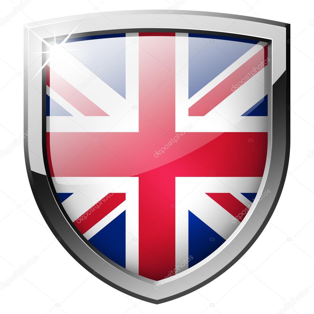 英国家族盾牌矢量图