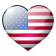 Usa heart button — Stock Photo