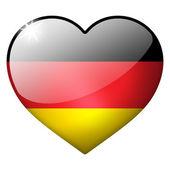 Deutschland Herz button — Stockfoto