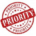 Priority stamp — Stock Photo #27659701