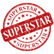 Superstar stamp — Stock Photo #27659813