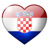 Croatia heart button — Stock Photo