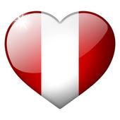 Przycisk serce peru — Zdjęcie stockowe