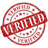 Verified stamp — Stock Photo