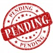 Stock Photo: Pending stamp