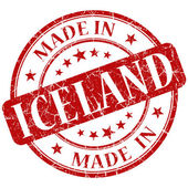 Made in iceland stamp — Stock Photo