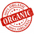 Stock Photo: Organic stamp