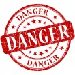 Danger stamp — Stock Photo