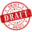 Draft stamp — Stock Photo