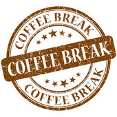 Coffee break stamp — Stock Photo