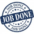 Job done stamp — Stock Photo