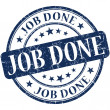 Job done stamp — Stockfoto