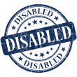 Disabled stamp — Stock Photo