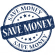 Save money stamp — 图库照片