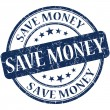 Stock Photo: Save money stamp