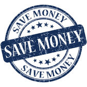 Save money stamp — Stock Photo