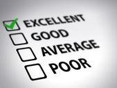Questionnaire - excellent — Photo