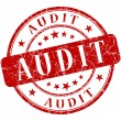 Audit Red stamp — Stockfoto