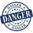 Danger Blue stamp — Stock Photo #28347485