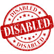 Disabled Red stamp — Stock Photo