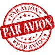 Stock Photo: Par Avion Red stamp