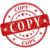 Copy Red stamp — Stock Photo