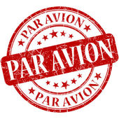Par Avion Red stamp — Stock Photo