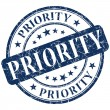 Priority stamp — Stock Photo #28617395