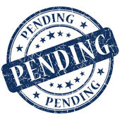 Pending stamp — Stock Photo