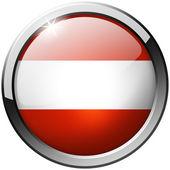 Austria Round Metal Glass Button — Stock Photo