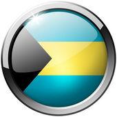 Bahamas Round Metal Glass Button — Stock Photo