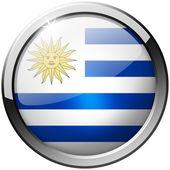 Uruguay Round Metal Glass Button — Stock Photo