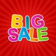 Stock Vector: Big Sale Poster