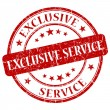 Stock Photo: Exclusive Service Red Stamp
