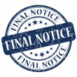 Final Notice Blue Stamp — Stock Photo