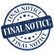 Stock Photo: Final Notice Blue Stamp