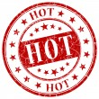 Hot red stamp — Stock Photo