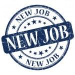 New job blue stamp — Stock Photo #29432345