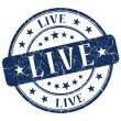 Live Blue Stamp — Stock Photo