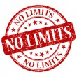 Stock Photo: No Limits Red Stamp