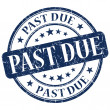 Stock Photo: Past Due Blue Stamp