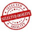 Stock Photo: Selected Quality Red Stamp