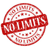 No Limits Red Stamp — Stock Photo