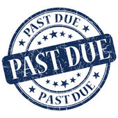 Past Due Blue Stamp — Stock Photo