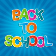 Back To School Blue Poster — Stock Vector