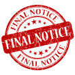 Final Notice Red Stamp — Stock Photo #29728089