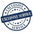 Stock Photo: Exclusive Service Blue Stamp