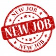 Stock Photo: New job red stamp